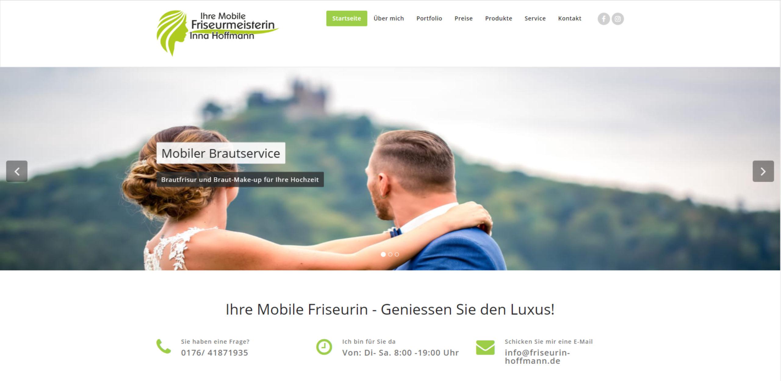 Ihre Mobile Friseurmeisterin - Inna Hoffmann